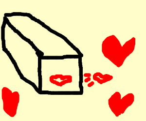 Rectangular prism blows a kiss
