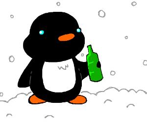 Alcoholic penguin