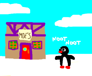 noot noot hits up the bar