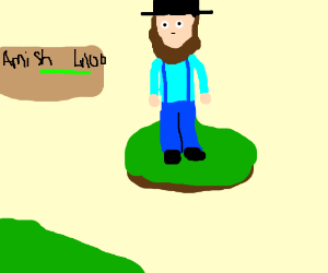 """A wild Amish appears!"""