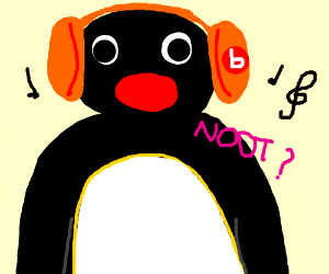 pingu listening to beats