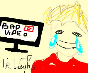 Jazza laughs at bad videos