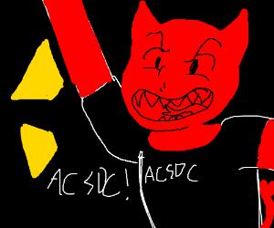 The devil is an AC/DC fan