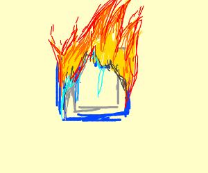 microchip has caught fire