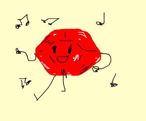 Dancing Red Ruby