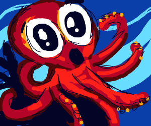 suprised octopus.