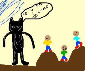 Black Panther tells children de wae