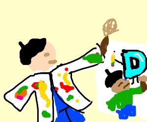 Artist Draw Artist Drawing Drawception...
