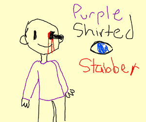 purple shirted eye stabber