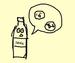 a soda bottle talking about dead birds