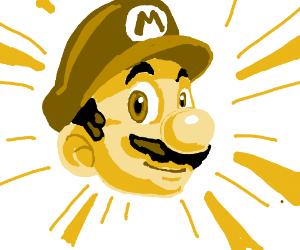 Golden Mario's head