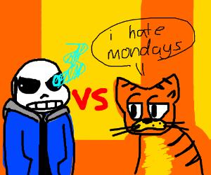Sans Vs Garfield Drawception