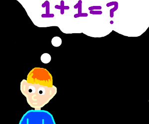 Man confused by 1+1+?