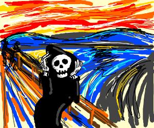 Munch scream but its a reaper that screams