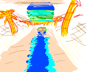 Draw something in inverted colors Pio