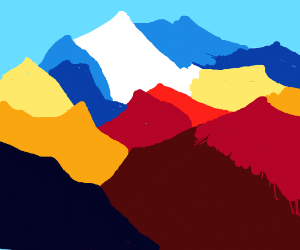 multi-colored crystal mountains