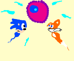sonic characters as sperm (whyyyyyyy?)