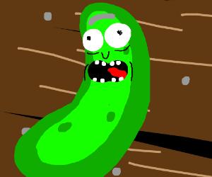 A cringy green cucumber