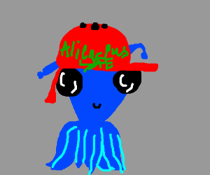 octopus alien in helmet