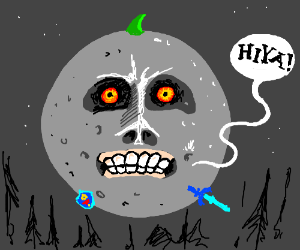 Moon saying Hiya