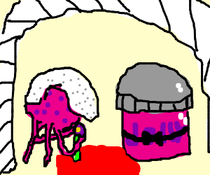 a jellyfish and a jelly getting married 0w0