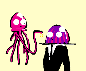 Jellyfish Getting Married To Jelly