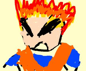 Goku's Head is on fire