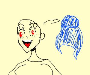 anime universe girl has a wig