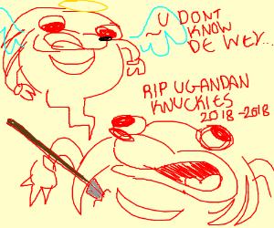 Step 1: Let Uganda Knuckles meme die.