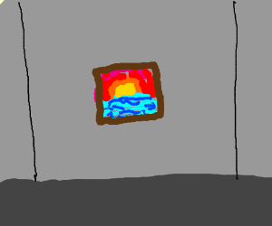 beautiful painting sits on my wall (story??)