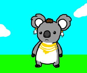 Mr. T as a koala