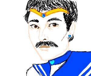 Freddie Mercury but he's Sailor Mercury