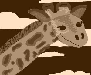 Monochrome happy giraffe