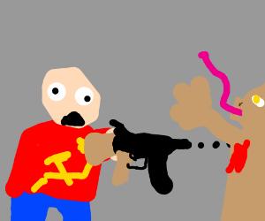 Russian dude kills Jar-Jar