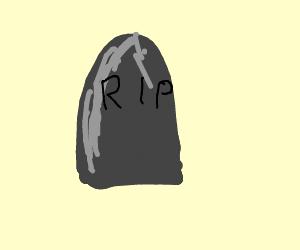 A shiny headstone