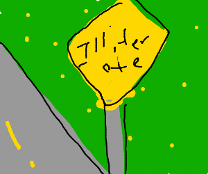 Road sign that says Illiterate on it.