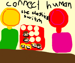 Connect 4 poster but kids are any1 u want pio
