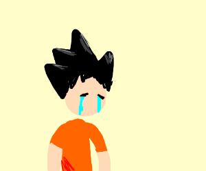 goku is crying