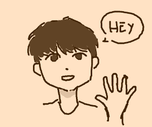 Man says hey