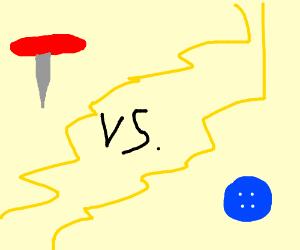 thumb tak vs. Button