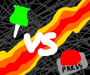 thumbtack vs. button