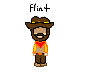 Mccree staring with eyes shaded.