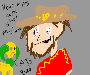Your eyes are shot, McCree. Go to bed.
