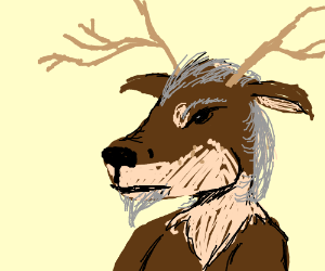 Old reindeer man