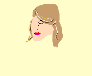 Faceless Taylor Swift in red