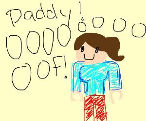 "roblox character moaning ""daddy! oooooff"""