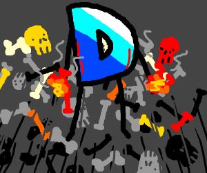 Drawception logo on a murdering spree