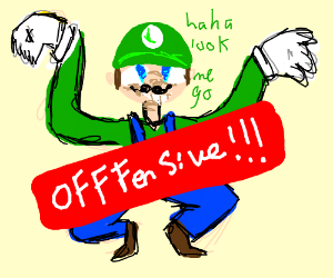 VERY bendy luigi alarms and offends viewers