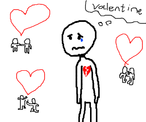 Lonely on valentines day