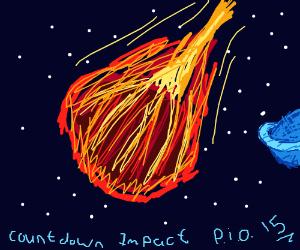 countdwn impact pio 14 comet in far space